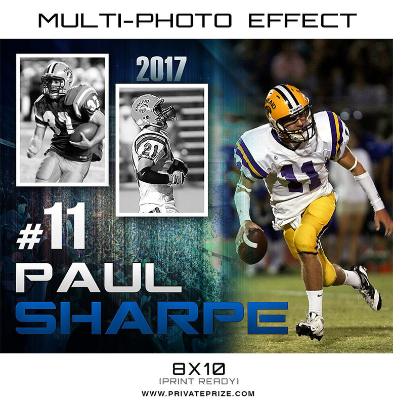 Paul-Multi photo effect card - Photography Photoshop Templates