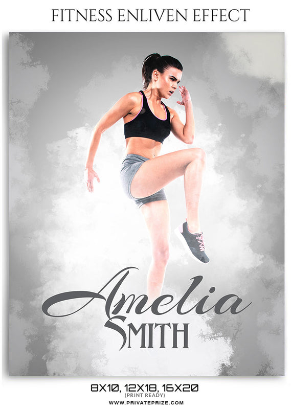 Amelia Smith-Fitness Mantra- Enliven Effects - Photography Photoshop Template