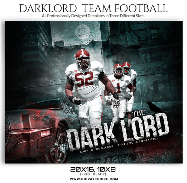 Dark Lord Sports Template - sports photography photoshop templates