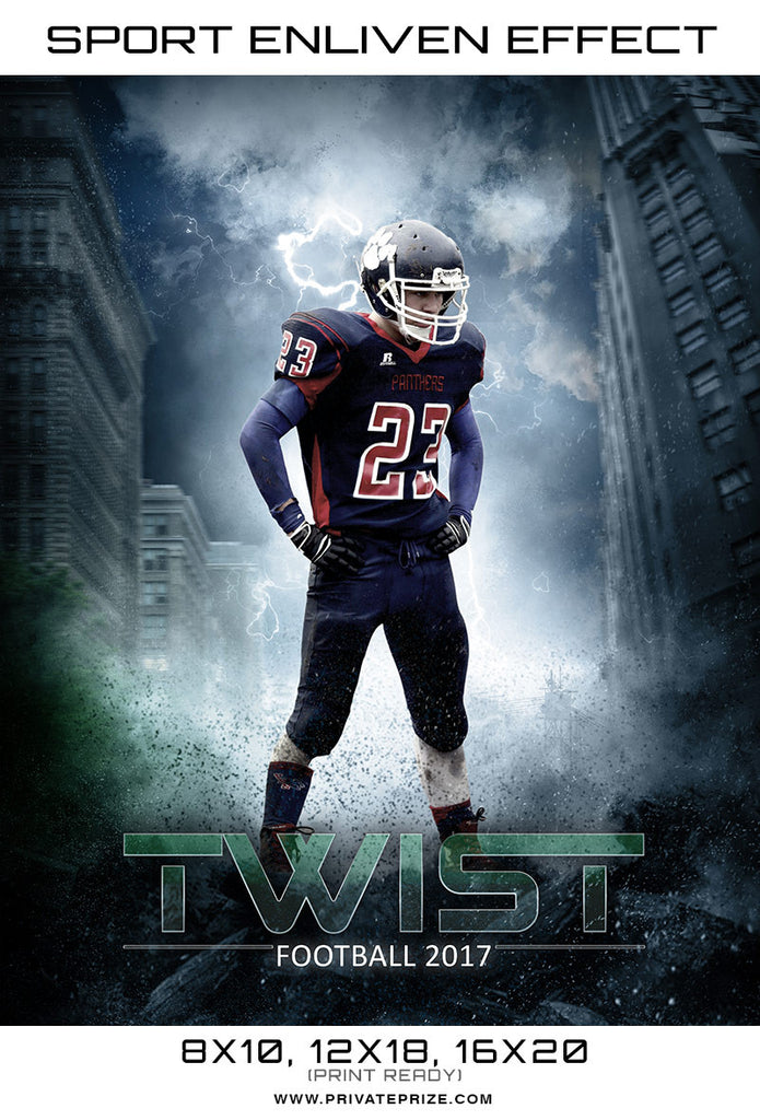 Twist Sports Template -  Enliven Effects - Photography Photoshop Templates