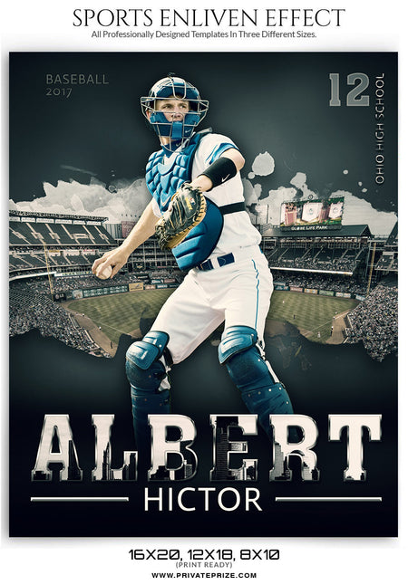 Albert Baseball Enliven Effect - Photography Photoshop Template