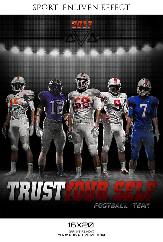 Trust Yourself Sports Template -  Enliven Effects - Photography Photoshop Template