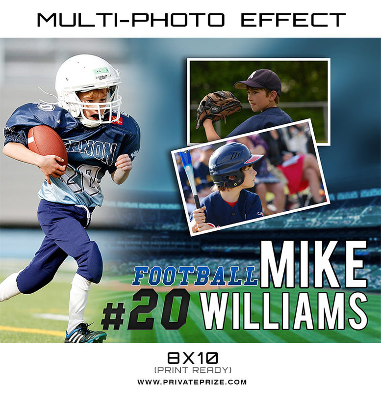 Mike Multi Photo Effect Card Template - Photography Photoshop Template