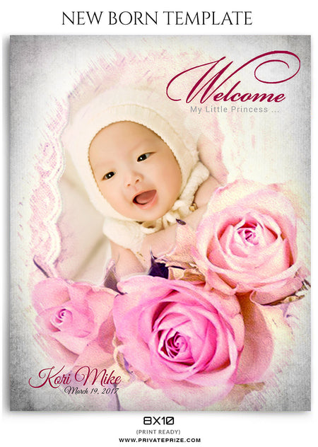 Kori Mike- New Born - Photography Photoshop Template