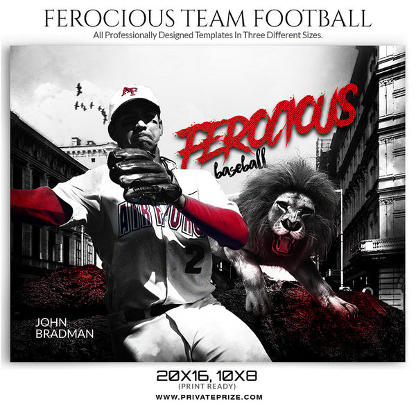 Ferocious Sports Template - sports photography photoshop templates