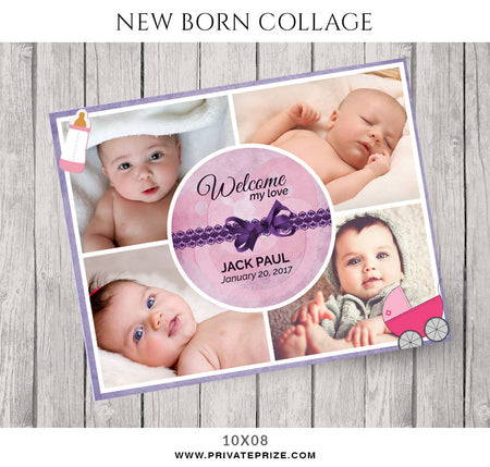 Baby Collage Set - My Love - Photography Photoshop Template