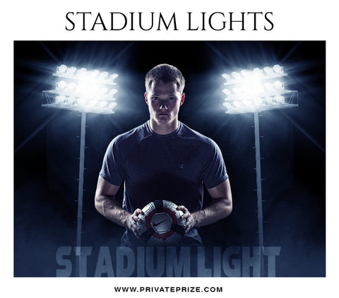 Stadium Light Overlays - Designer Pearls - Photography Photoshop Template