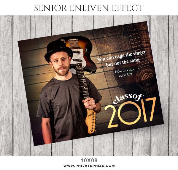 Bruce Roy- Senior Enliven Effects - Photography Photoshop Template