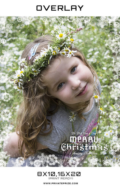 Wish you a very Merry Christmas Overlay - Photography Photoshop Templates