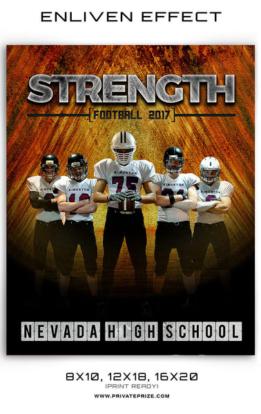 Strength-Football  Enliven Effects - Photography Photoshop Templates