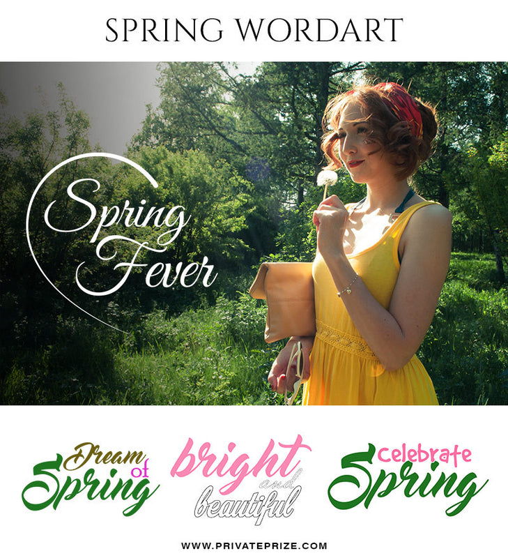 Spring Fever-Wordart- Designer Pearls - Photography Photoshop Template