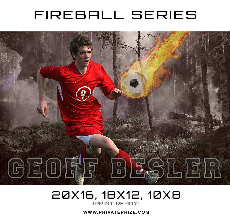 Soccer - Sports Fireball Series - Photography Photoshop Templates