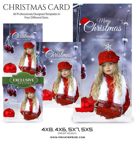Christmas Card - Photography Photoshop Template