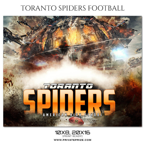 TORANTO SPIDER FOOTBALL Themed Sports Photography Template - Photography Photoshop Template