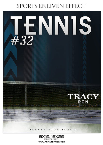 TRACY RON-TENNIS - SPORTS ENLIVEN EFFECT - Photography Photoshop Template