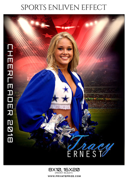 TRACY ERNEST-CHEERLEADER- SPORTS ENLIVEN EFFECT