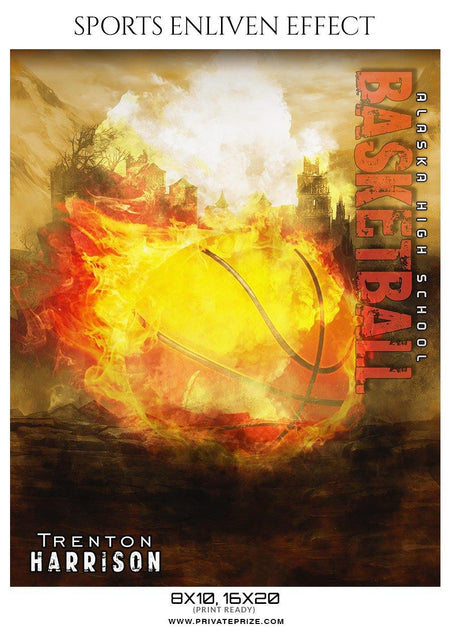 Trenton-Harrison - Basketball Sports Enliven Effects Photography Template - Photography Photoshop Template