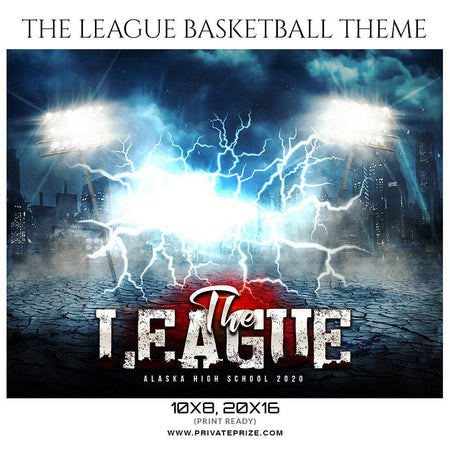 The League - Basketball Sports Themed  Photography Template - Photography Photoshop Template