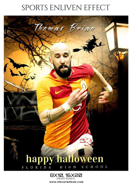 Thomas Brian - Soccer Halloween Template -  Enliven Effects - PrivatePrize - Photography Templates