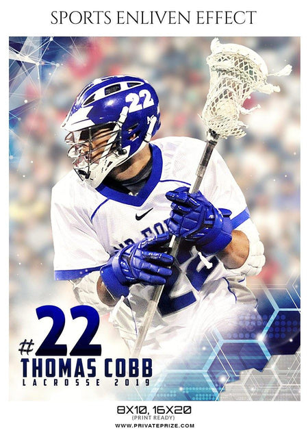 Thomas Cobb - Lacrosse Sports Enliven Effects Photography Template - Photography Photoshop Template