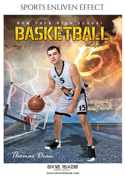 Thomas Dean - Basketball Sports Enliven Effect Photography Template