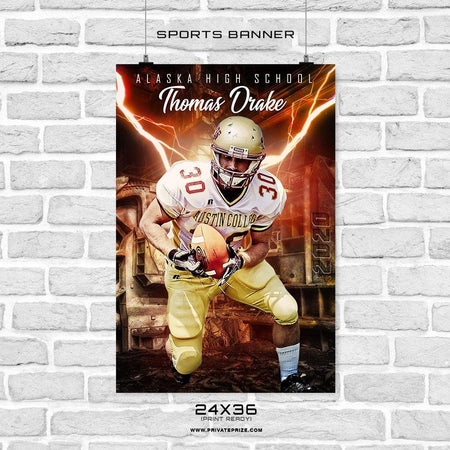 Thomas Drake - Sports Banner Photoshop Template