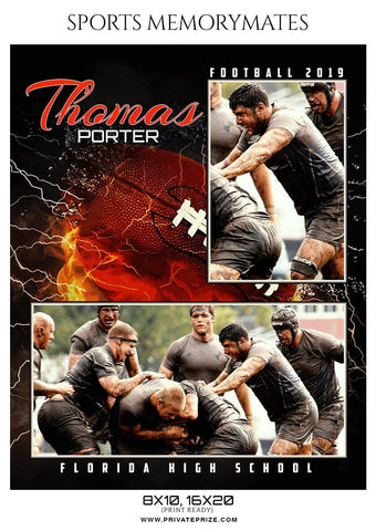 Thomas Porter - Football Memory Mate Photoshop Template