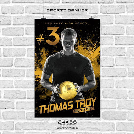 Thomas  Troy - Soccer Sports Banner Photoshop Template