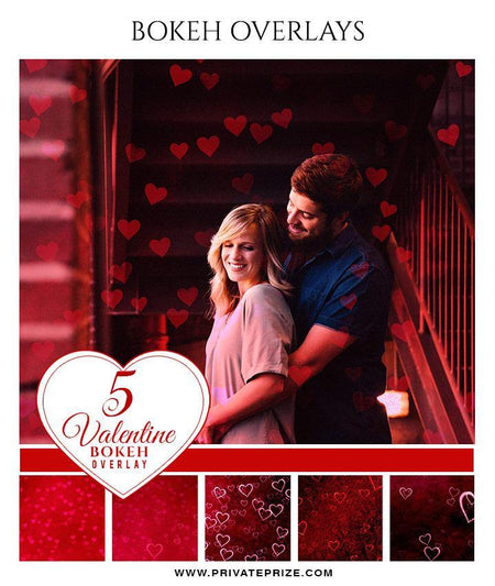 Hearts - Designer Pearls Valentines Overlays - Photography Photoshop Template