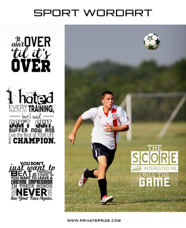 Sports Word Art Overlays - Only The Game - Photography Photoshop Templates