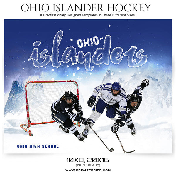 Ohio Islander Themed Sports Template - Photography Photoshop Templates