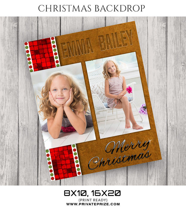 Emma Bailey Christmas Digital Backdrop - Photography Photoshop Template