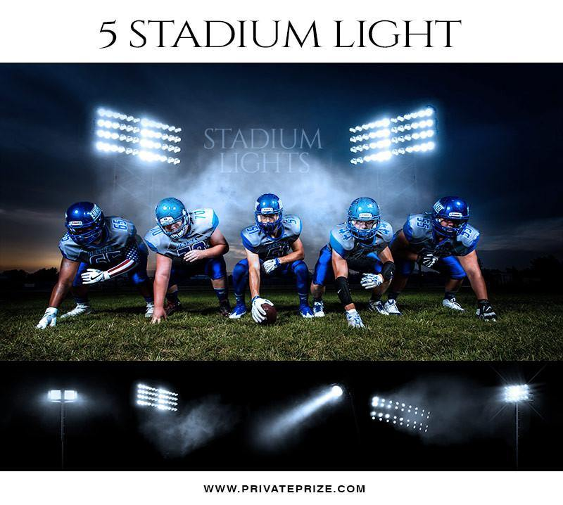5 Stadium Light Overlays - Designer Pearls - Photography Photoshop Template
