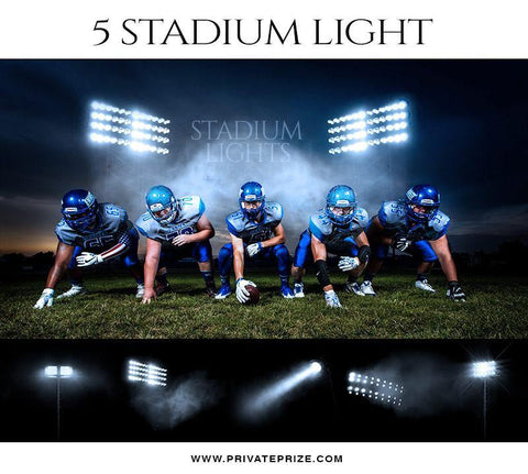 5 Stadium Light Overlays - Designer Pearls