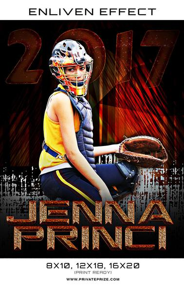 Jenna Princi Softball High School Sports Template -  Enliven Effects