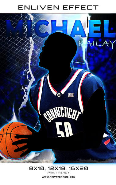 Michael Bailay Connecticut Basketball Sports Template -  Enliven Effects