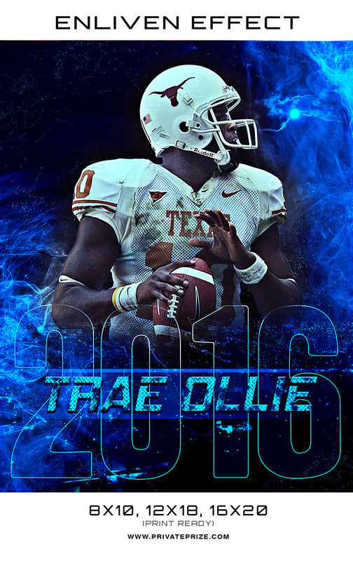 Trae Dllie Football Sports Template -  Enliven Effects - Photography Photoshop Template