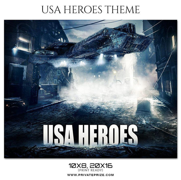 USA Heroes - Basketball Theme Sports Photography Template - Photography Photoshop Template