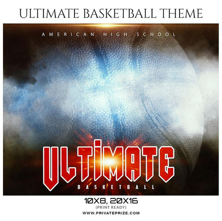 Ultimate - Basketball Theme Sports Photography Template - PrivatePrize - Photography Templates