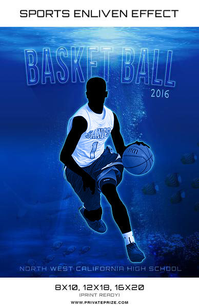 Under Water Basketball High School Sports - Enliven Effects