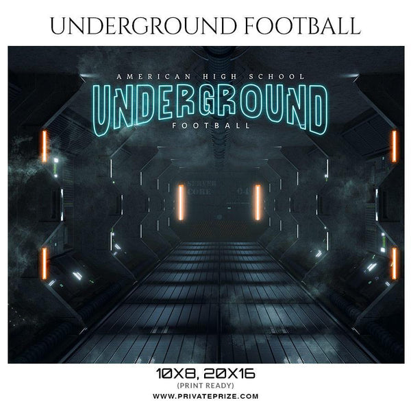 Underground - Football Themed Sports Photography Template - Photography Photoshop Template