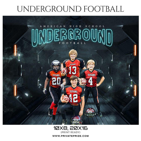 Underground - Football Themed Sports Photography Template