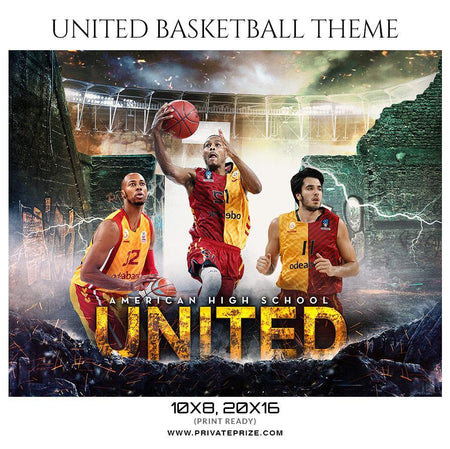 United - Basketball Sports Themed  Photography Template - Photography Photoshop Template