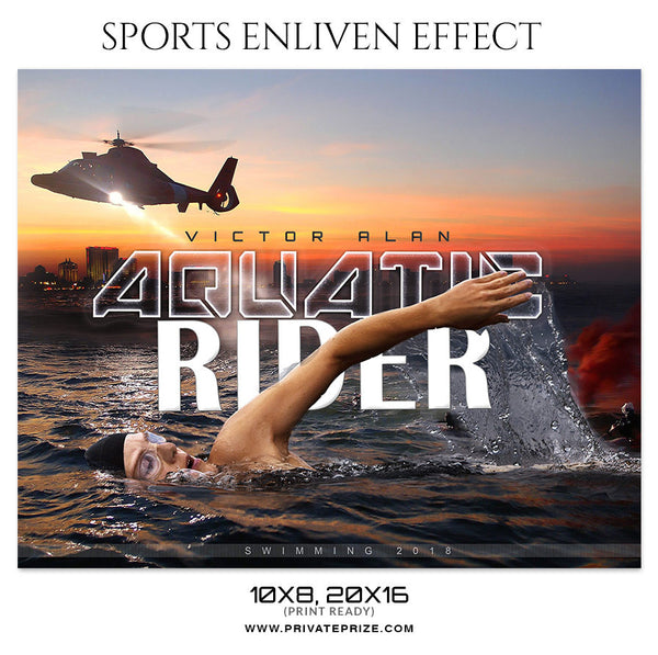 VICTOR ALAN-SWIMMING - SPORTS ENLIVEN EFFECT - Photography Photoshop Template