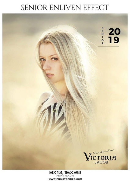 Victoria Jacob - Senior Enliven Effect Photography Template