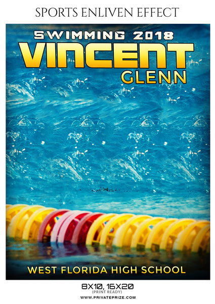 VINCENT GLEN-SWIMMING- SPORTS ENLIVEN EFFECT - Photography Photoshop Template