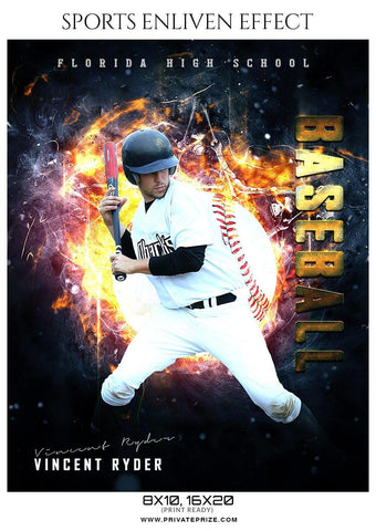 Vincent Ryder - Baseball Sports Enliven Effects Photography Template