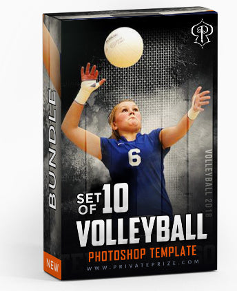 September Volleyball Bundle Photography Photoshop Template - Photography Photoshop Template