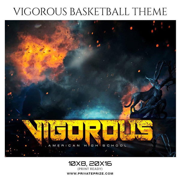 Vigorous - Basketball Sports Themed  Photography Template