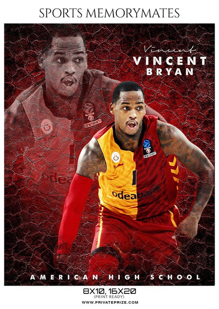 Vincent Bryan - Basketball Memory Mate Photoshop Template